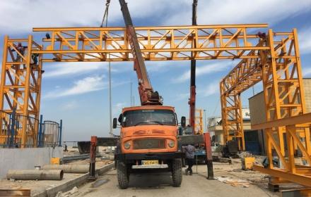 اتمام عملیات نصب بزرگترین تراس در بندر امام خمینی(ره)
